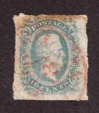 US CSA 11a 10c Davis Used VF-XF w/ Red Town Cancel SCV $95