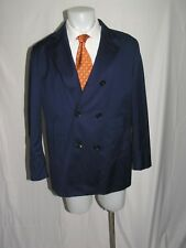 Montecore Solid Royal Blue Lightweight Wool Double Breasted Jacket 44R