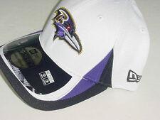 New Era 39THIRTY BALTIMORE RAVENS WHITE SMALL/MEDIUM FLEXFIT NFL CAP/HAT NICE!