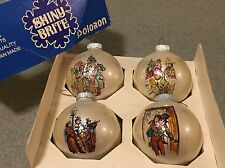 Christmas Ornaments Glass Ball Vintage SHINY BRITE Box CHRISTMAS CAROL Dickens