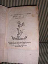 ALDO MANUZIO-EDIZIONE ALDINA-RARISSIMA 1519 - M.T. CICERONIS ORATIONUM