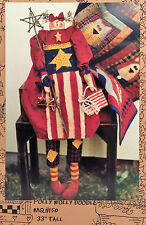 "NEW 2000 SEWING PATTERN Patriotic Doll Pattern 33"" Primitive Kitty Cat & Clothes"