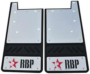 RBP 757057-SS Mud Flap 09-C Dodge HD Front w/ Flare Red w/ Stainless Background