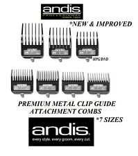 Andis Barbier Styliste Cheveux Premium Métal Clip Détachable Lame 7 PC Guide Nid