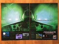 Ace Combat 3: Electrosphere PS1 1999 Vintage Poster Ad Art Print Official Promo