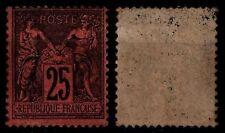 SAGE 25c Noir sur Rouge, Neuf * avec Gomme = Cote 1.500 € / Lot Timbre France 91