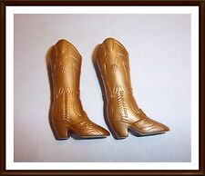 Genuine Barbie - Gold Cowboy Boots / Shoes  - Barbie Doll -  Mattel