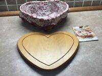 Longaberger 1999 Love Letters Sweetheart Valentine Basket, Protector, Lid,liner