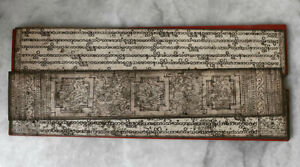 SUPERB antique manuscript BURMA, gilt and lacquered sheets/boards