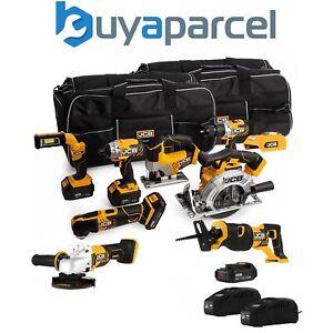 "JCB 189PK 18V Cordless 9 Piece Tool Kit Recip 4x Batteries Charger + 2 26"" Bags"