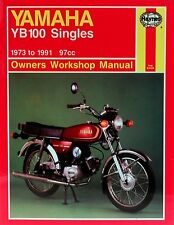 Haynes Manual 0474 - Yamaha YB100 Singles (73 - 91) workshop/service/repair