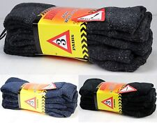 New 12 Pairs Mens Heavy Duty Warm Work Wool Socks Crew Thermal Cotton Size 9-13