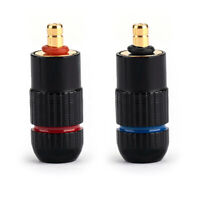 1Pair Headphone Gold Plated Pin Jack DIY Splice Adapter For UE6 Pro IPX Black A2