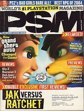 PSM November 2004 Jak Vs. Ratchet, Sly 2 w/ML VG 070816DBE2
