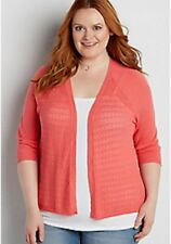 Maurices~New With Tags~ lightweight cardigan with pointelle stitching~Plus 2-2X