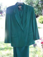 Talbots 2 pc Pant suit Aqua Blue Silk Size 10