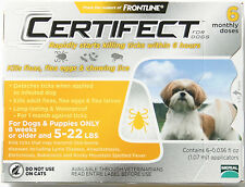 Merial Frontline Certifect Flea and Ticks Dog 5 - 22 lbs gold 6 monthly dose
