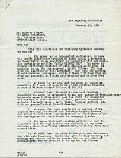 Alberto Vargas Signed Contract Document Pin Up Artist Jsa Authenticated X34940