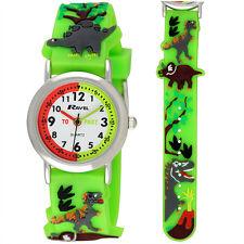 Children's Ravel Dinosaur 3D Kids Green Time Teacher Quartz Watch R1513.59