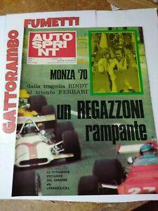Autosprint N.36 Regazzoni Trionfo Ferrari a Monza ~Anno 1970 ottimo