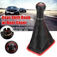 5 Speed Gear Shift Knob + Gaiter Boot Frame Cover For Seat Leon Toledo 1999-2001