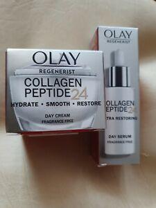 Olay Regenerist Collagen Peptide 24 ,Day Cream ,+ Day Serum,Fragrance Free