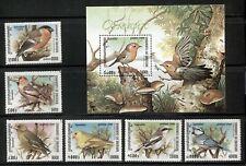 CAMBODIA 1999, BIRDS, 6 STAMPS AND A SOUVENIR SHEET, MNH