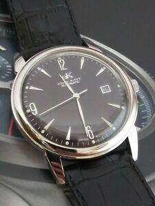 Adee Kaye #AK4071-M1 21 Jewels Vintage Leather Band Automatic Self-winding Watch