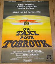 Affiche de cinéma : UN TAXI POUR TOBROUK de Denys DE LA PATELLIERE