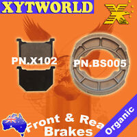 Front Rear Brake Pads Shoes Suzuki GN250 GN 250 1985-97