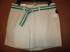 "NWT Ralph Lauren POLO Jeans Co. Sz 14 Khaki Shorts Waist18"" 5"" Kerry Ret $42"
