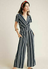 NEW $140 Anthropologie by DOLAN Canovas Striped Jumpsuit in NAVY STRIPE Size 3X
