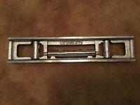 """LEVEL Superb Antique Vintage Stanley Cast Iron 9 1/4"""" Wide BRASILEIRA LEVELER"""