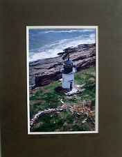 Pond Island Lighthouse, Maine,  Double matted and frame ready, Size 11 x 14,