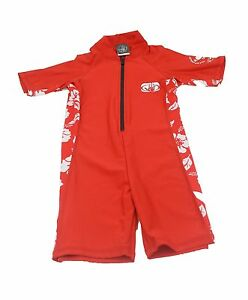 Childs Body Glove UV Protection Sun Suit. Red. Small, Medium, Large