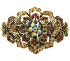 Anthony David Vintage Style Gold & Bronze Crystal Metal Hair Accessory Clip