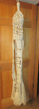 Vintage Hand Crafted Macrame Beaded Double Hanging Table Plant Hanger 6 Foot
