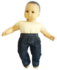 """15"""" Doll Clothes Black Detailed Denim Jeans made for Bitty Baby"""