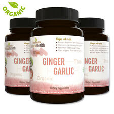 270 Organic Ginger & Garlic Capsules: A Healthy Circulatory Antioxidant: 500 mg