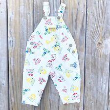 Vintage 80s OshKosh B'gosh Vestbak Overalls Pants Baby 3-6mo Animal Print RARE