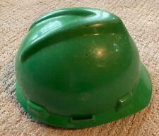 "Vintage Msa V-Gard Hard Hat Green Model ansi Z89.1 1981 Class ""B"""