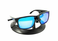 OAKLEY HOLBROOK POLISHED BLACK *BLUE ICONS* FRAME / REVANT ICE POLARIZED CUSTOM