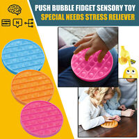 1x Push pop pop bubble sensory fidget toy autism special needs silent classroom