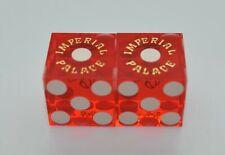 Casino Dice - Imperial Palace Casino Pair Used Matched Dice Las Vegas Nevada *