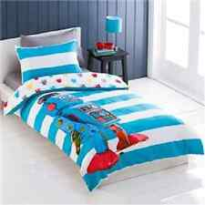 ROBOT STRIPES REVERSIBLE SINGLE bed QUILT DOONA COVER SET NEW
