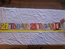 21 Today Happy Birthday Silver Decoration Celebration 2.6M Long Regent
