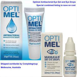 TwinPack Optimel Manuka Forte Antibacterial Eye Gel and Manuka Dry Eye Drops USA