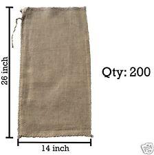 200 14x26 Burlap Bags, Burlap Sacks, Sandbags, Gunny Sack, Potato Sacks, Sack