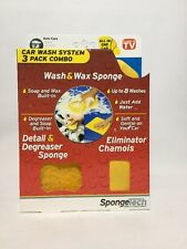 Car Wash System 3 Pack Combo Wash & Wax Sponge Cleaning Just Add Water