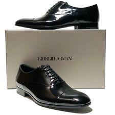 ARMANI Captoe Pebbled Leather Formal Dress Oxford 11.5 44.5 Men's Shoes Tuxedo